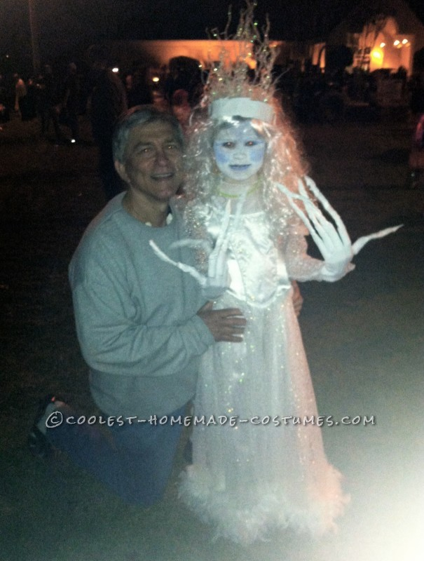 Original and Scary Ice Queen Costume for a Girl - 5