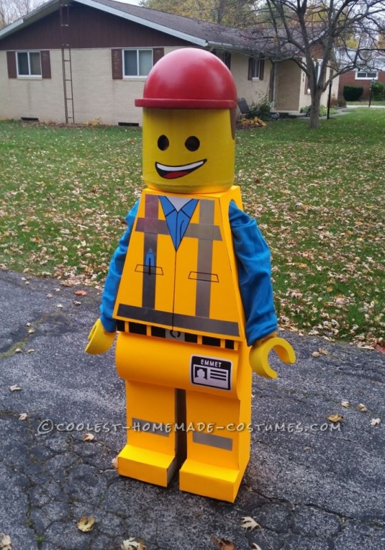 Homemade Emmet Costume - Star of The Lego Movie