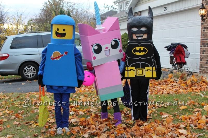 Benny, Unikitty, and Batman