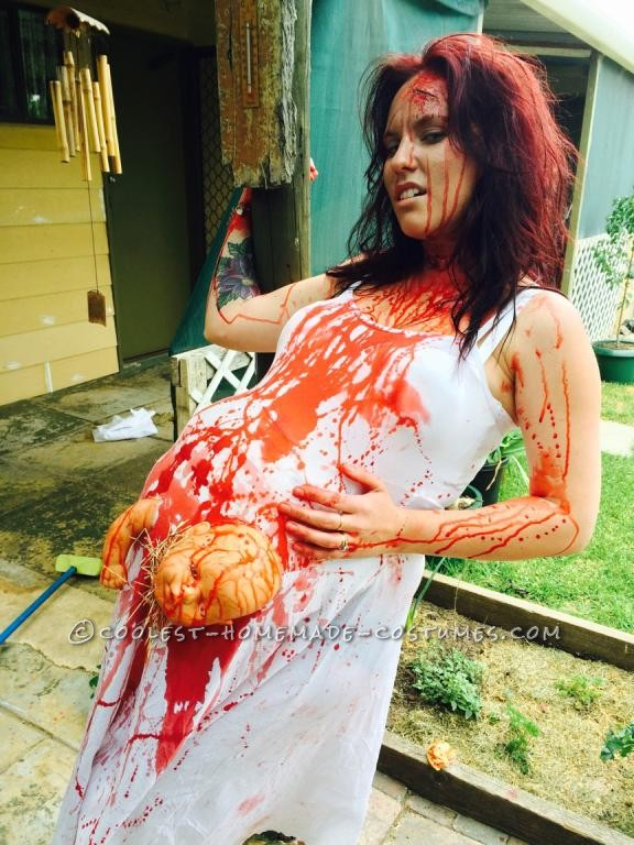 Extreme Pregnancy Costume with Extreme Baby Cramps - 1
