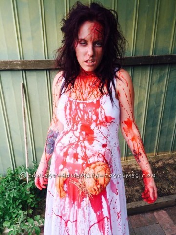 Extreme Pregnancy Costume with Extreme Baby Cramps