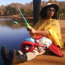 Eye-Catching Quirky Homemade Fisherman and Catfish Costume