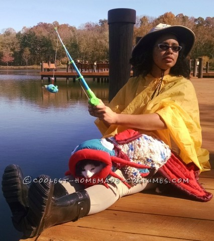 Eye-Catching Quirky Homemade Fisherman and Catfish Costume