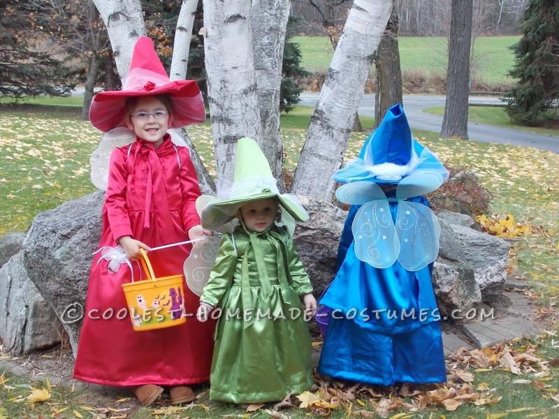 Pretty Handmade Girls Costumes:  Three Good Fairies from Sleeping Beauty