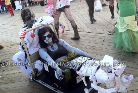 Creepy Zombie Little Mermaid and Eric Couple Costume
