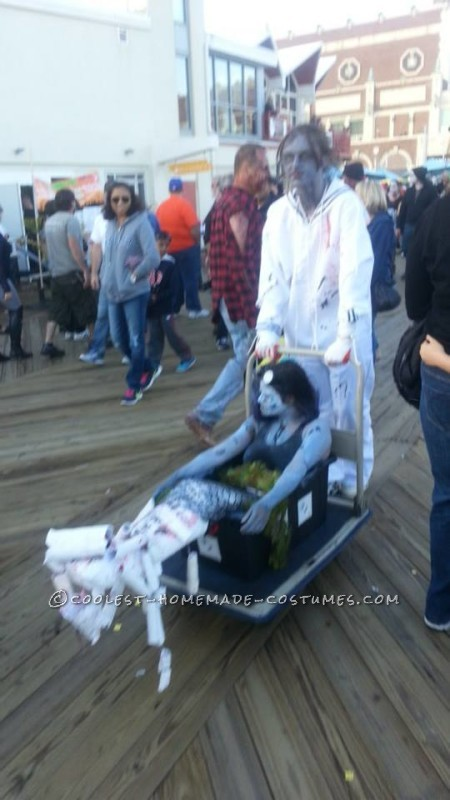 Creepy Zombie Little Mermaid and Eric Couple Costume - 2