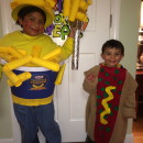 Coolest Homemade Franks and Cheese Couple Costume