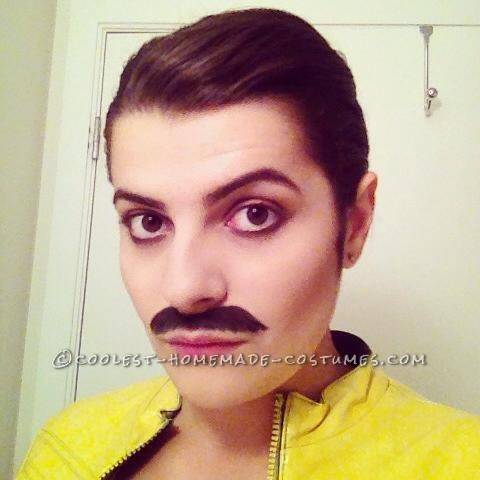 Homemade Freddie Mercury Costume for a Woman - 2