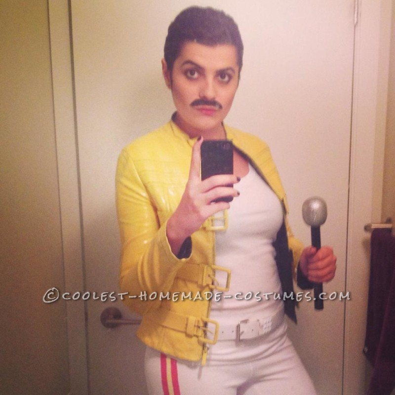 homemade freddie mercury costume for a woman homemade freddie mercury costume for a
