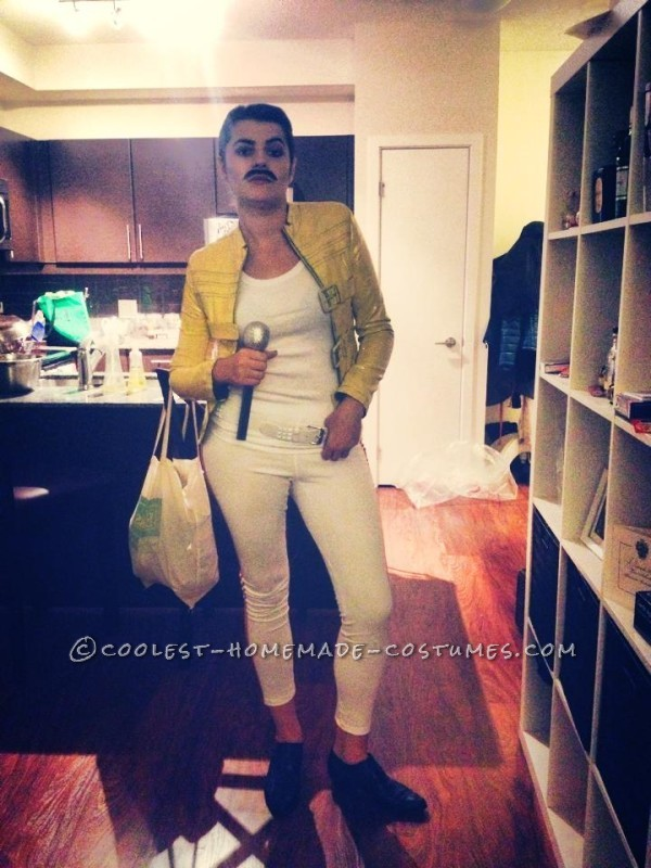 Homemade Freddie Mercury Costume for a Woman - 1