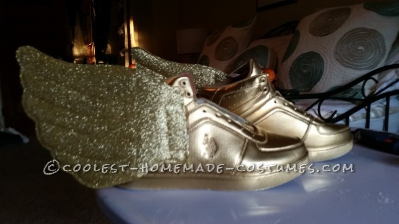 FTD Gold shoes with wings