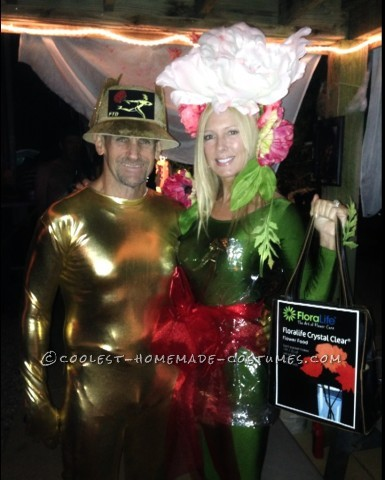 FTD Florist and His Bouquet of Flowers Couples Costume