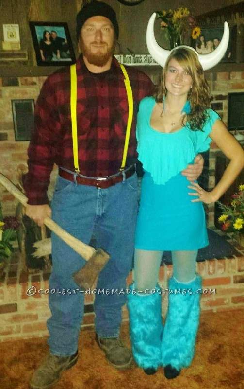 Fun and Easy Paul Bunyan and Babe the Blue Ox Couple Costume