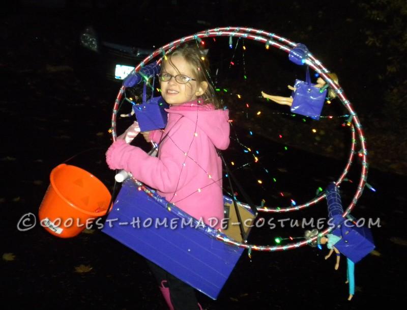 Fun Homemade Ferris Wheel Costume for a Girl