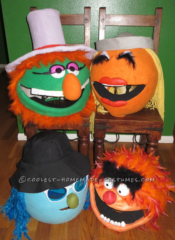 Funnest Group Costume Ever: The Electric Muppet Mayhem Band!