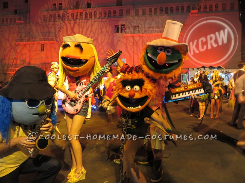 Funnest Group Costume Ever: The Electric Muppet Mayhem Band! - 1