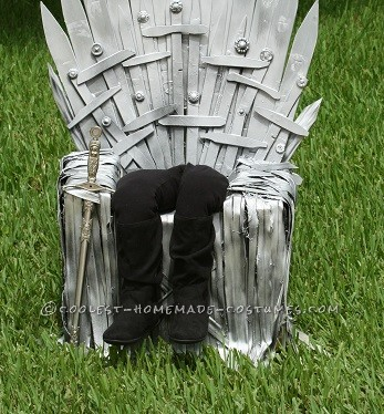 Homemade Game of Thrones Optical Illusion Throne Costume - 1