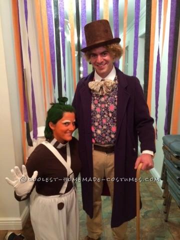 Gene Wilder Willy Wonka with Original Oompa Loopma Couples Costume