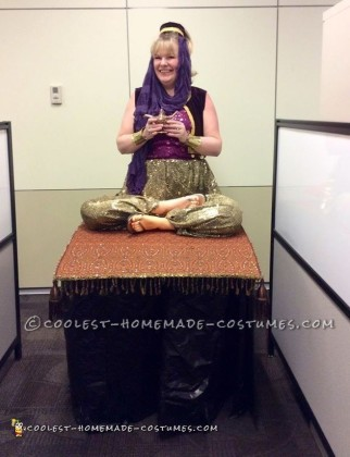 Cool Homemade Genie on a Flying Carpet Illusion Costume