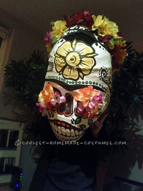 Awesome Giant Skull Heads with Poncho El Chihuahua Group Costume - 4