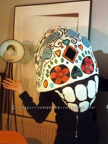 Awesome Giant Skull Heads with Poncho El Chihuahua Group Costume - 5