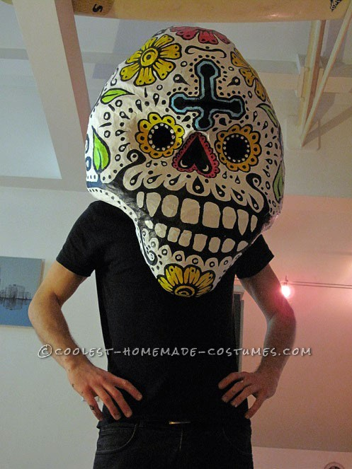 Awesome Giant Skull Heads with Poncho El Chihuahua Group Costume - 6