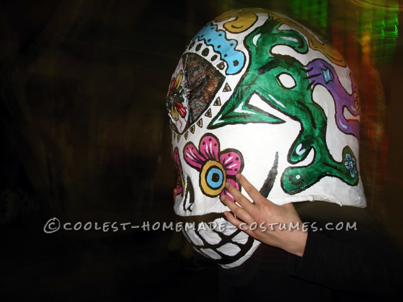 Awesome Giant Skull Heads with Poncho El Chihuahua Group Costume - 8
