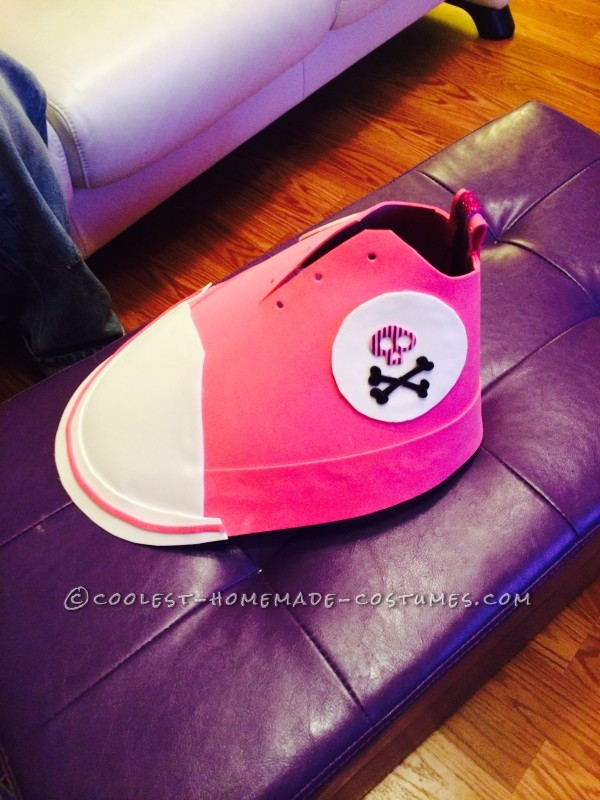 Pink Converse style shoes