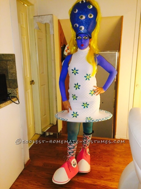 """Coolest """"Girl with Many Eyes"""" Tim Burton Character Costume"""