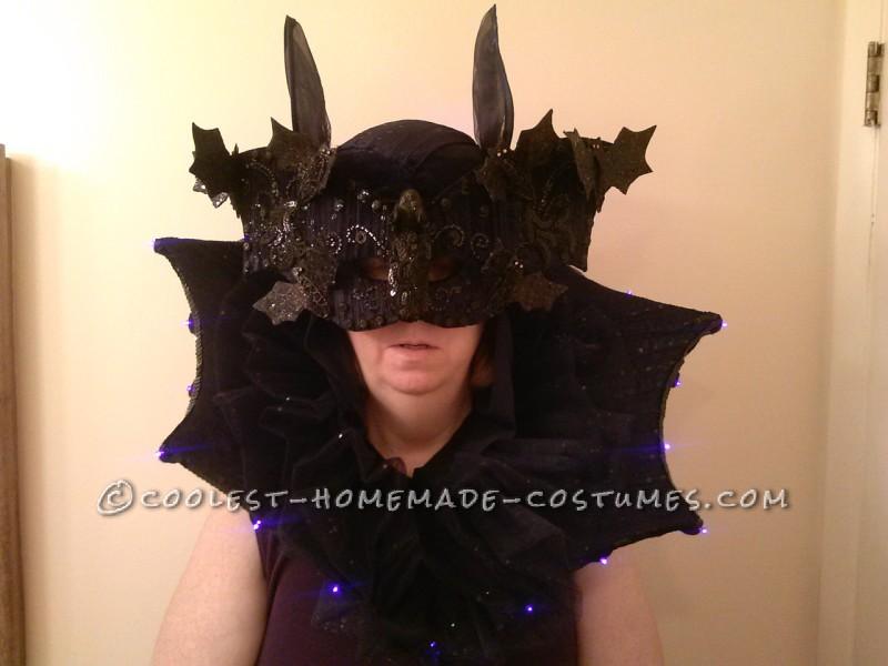 Glamorous Illuminated Bat Lady Costume - 1