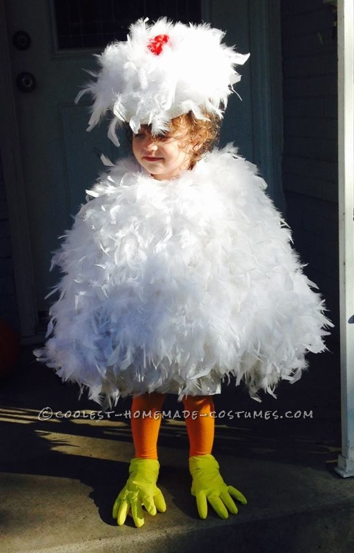 Madeline Kate as a Chicken