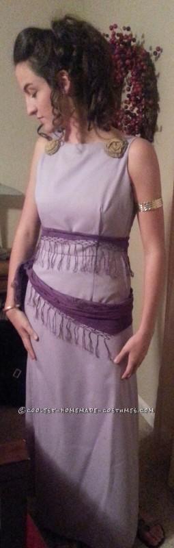 Homemade No-Sew Grecian Goddess Costume: Megara from Disney's Hercules - 3