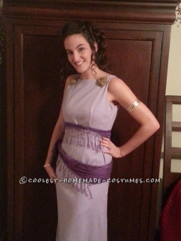 Homemade No-Sew Grecian Goddess Costume: Megara from Disney's Hercules