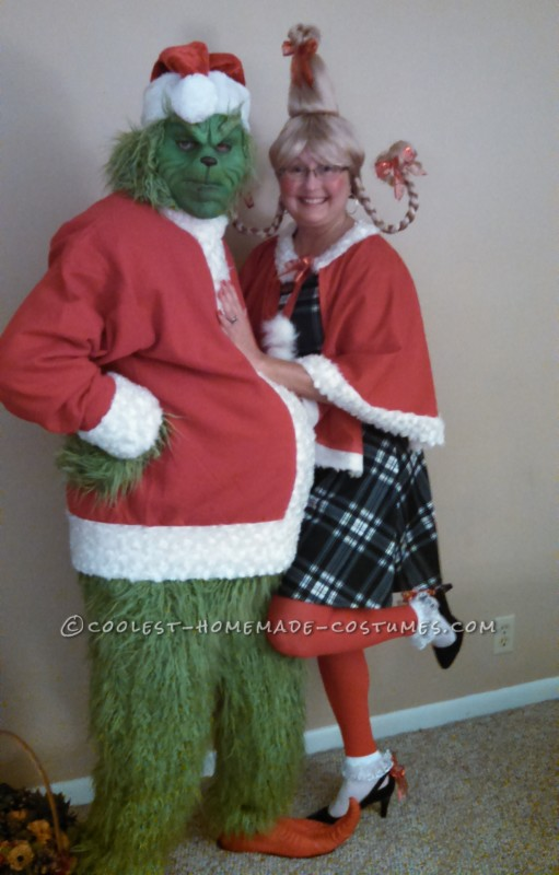 Heartwarming Grinch and Cindy Lou Who Costumes