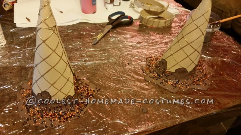 More melted ice cream cones
