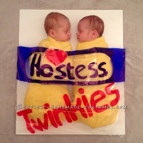 Awesome Twin Baby Costume Idea: Happy Halloween from our TWINkies!!