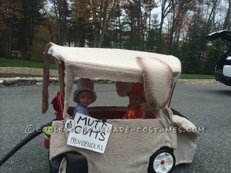 Harry and Lloyd Twin Girls Costumes Ride in a Sheepdog
