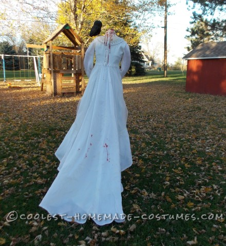Haunting Headless Bride Costume for a 9-Year-Old Girl