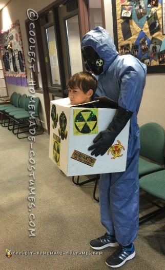 Coolest Hazmat Head in a Box Illusion Costume