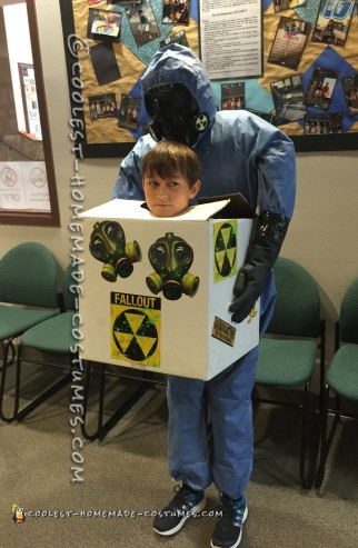 Coolest Hazmat Head in a Box Illusion Costume