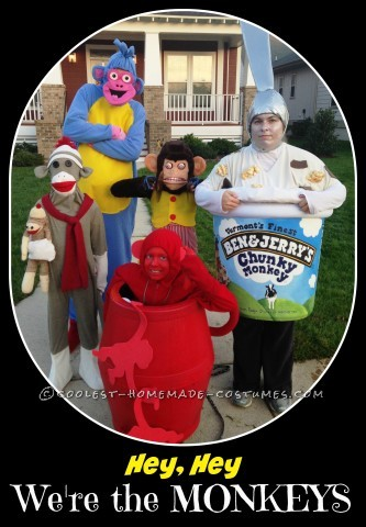 Coolest Homemade Monkey Group Costume