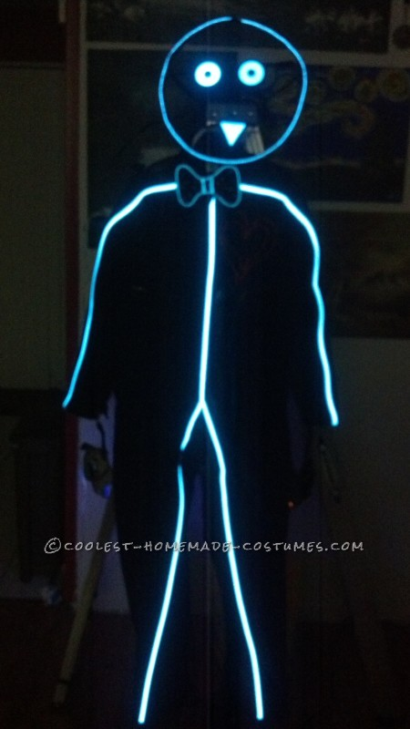 High Power EL Stick Figure Costume