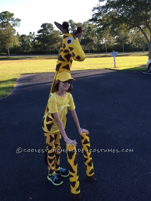 Cute No-Sew Giraffe Costume