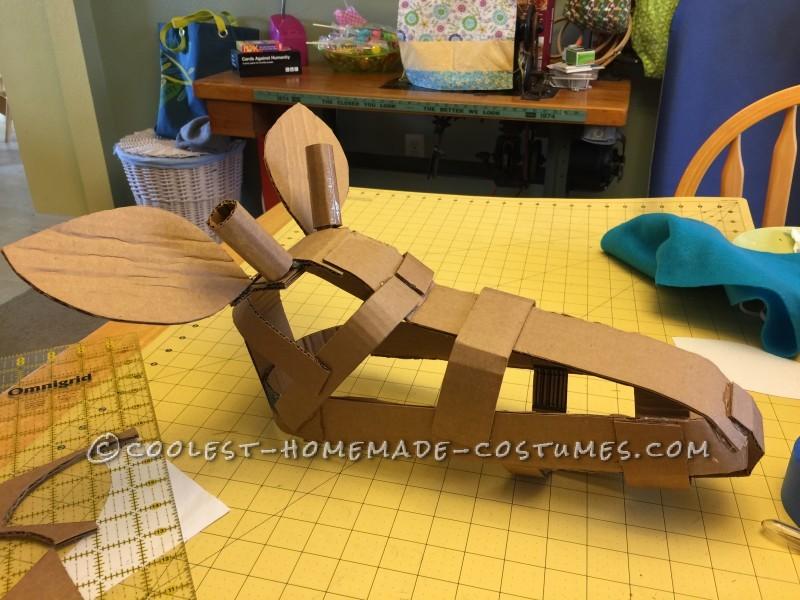Cardboard Giraffe Skull