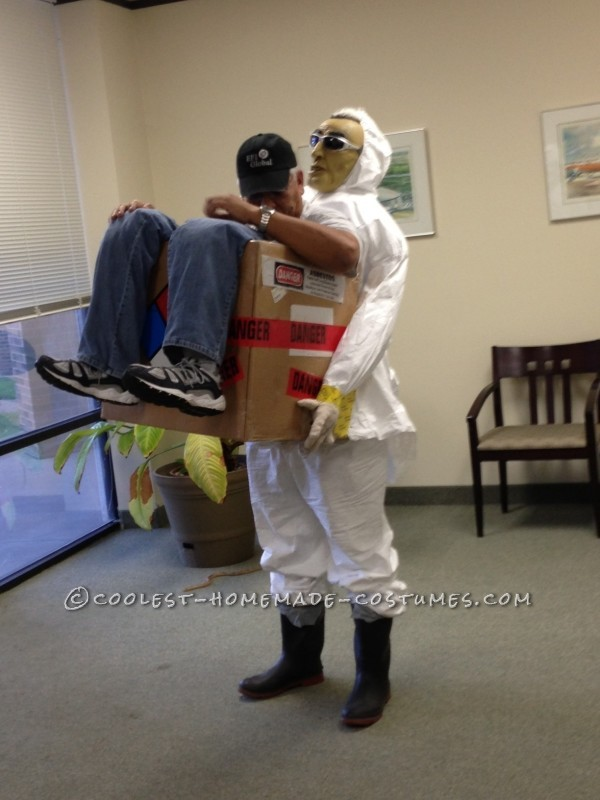 Homemade Halloween Hazardous Waste In-A-Box Costume