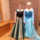 Homemade, Movie Quality Anna and Elsa Costumes from Frozen