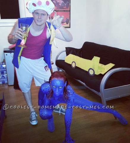 Sexy Homemade Mystique Costume from X-Men