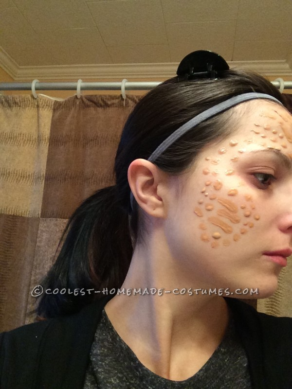 Patterns I made on my face