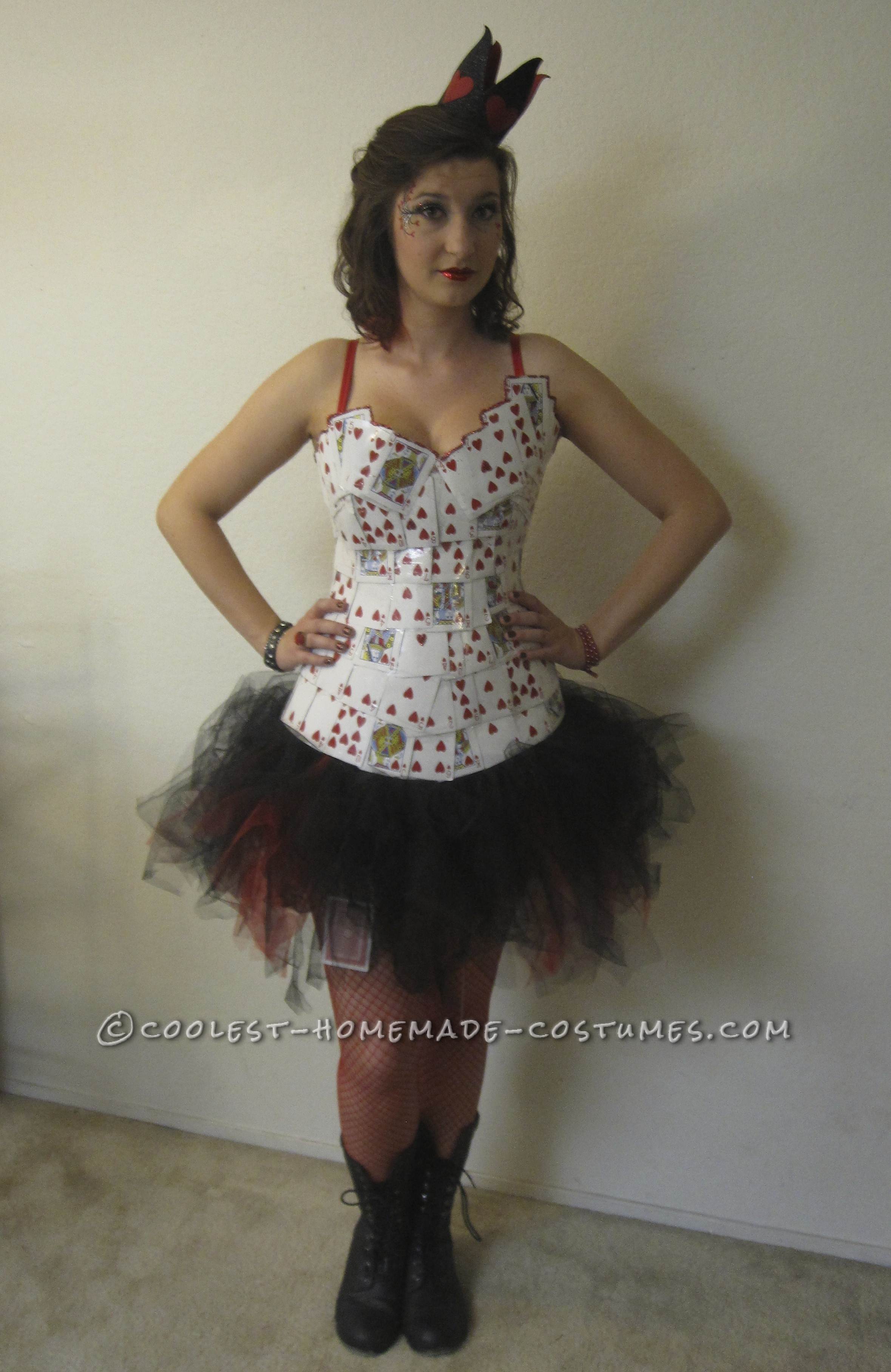 Coolest Homemade Queen of Hearts Costume