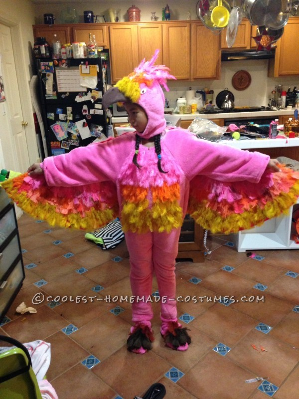 Hot Pink Phoenix Recycled from Wilbur the Pig Costume